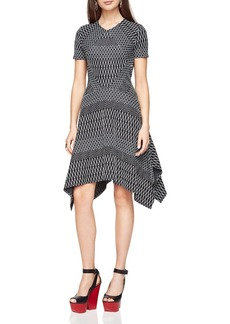 BCBGMAXAZRIA Arsley Geometric-Pattern Knit Dress