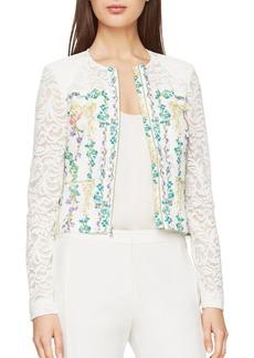 BCBG Max Azria BCBGMAXAZRIA Ash Floral-Print Lace Jacket