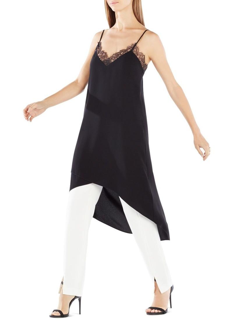 BCBG Max Azria BCBGMAXAZRIA Astrella Asymmetric Draped Slip Dress