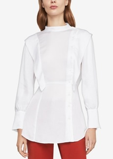 BCBG Max Azria Bcbgmaxazria Asymmetric Button-Front Shirt