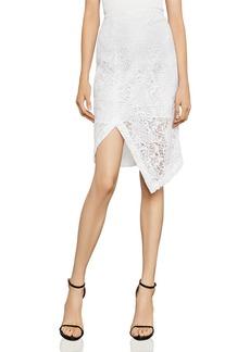 BCBG Max Azria BCBGMAXAZRIA Asymmetric Lace Pencil Skirt