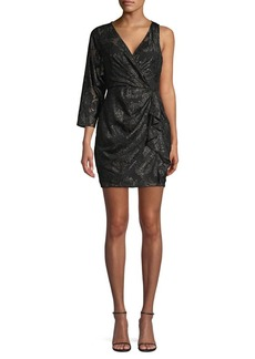 BCBG Max Azria BCBGMAXAZRIA Asymmetrical Sleeve Mini Dress