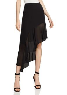 BCBG Max Azria BCBGMAXAZRIA Asymmetric Ruffled Skirt