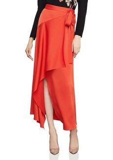 BCBG Max Azria BCBGMAXAZRIA Asymmetric Satin Wrap Skirt