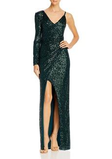 BCBG Max Azria BCBGMAXAZRIA Asymmetric Sequin Gown