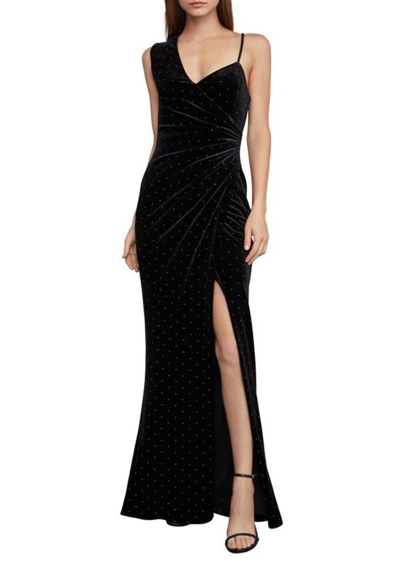 BCBG Max Azria BCBGMAXAZRIA Asymmetric Velvet Maxi Dress