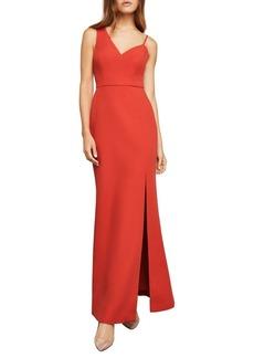 BCBG Max Azria BCBGMAXAZRIA Asymmetrical Bodice Sleeveless Gown