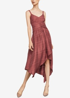BCBG Max Azria Bcbgmaxazria Asymmetrical Lace-Up Dress