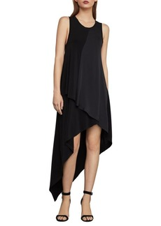 BCBG Max Azria BCBGMAXAZRIA Asymmetrical Mixed Media Dress