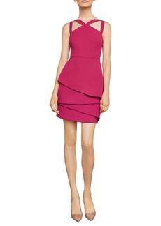BCBG Max Azria BCBGMAXAZRIA Asymmetrical Peplum Sheath Dress