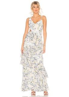 BCBG Max Azria BCBGMAXAZRIA Asymmetrical Ruffle Gown