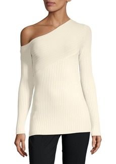 BCBG Max Azria Aya One-Shoulder Sweater
