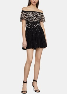 BCBG Max Azria Bcbgmaxazria Ayanne Off-The-Shoulder Fit & Flare Dress