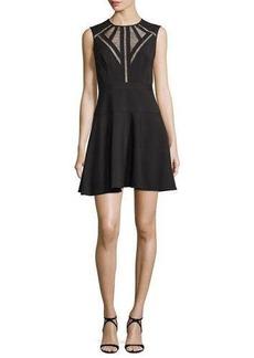 BCBG Max Azria BCBGMAXAZRIA Aynn Pointelle-Inset Cocktail Dress