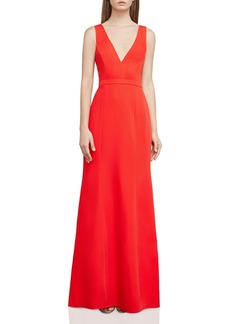 BCBGMAXAZRIA Back Cutout Gown