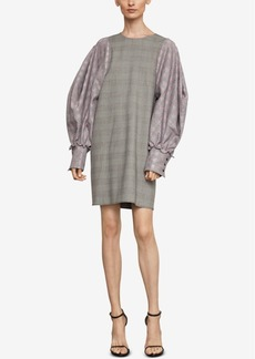BCBG Max Azria Bcbgmaxazria Balloon-Sleeve Houndstooth Dress