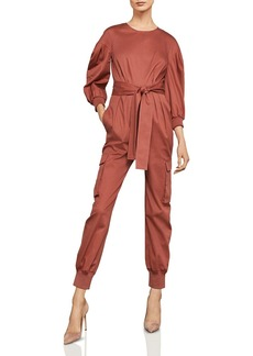 BCBG Max Azria BCBGMAXAZRIA Balloon-Sleeve Pleated Jumpsuit