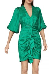 BCBG Max Azria BCBGMAXAZRIA Balloon Sleeve Ruffled Dress