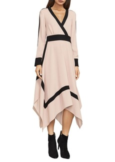 BCBG Max Azria BCBGMAXAZRIA Bambi Colorblock Wrap Dress