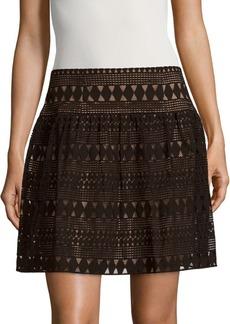 BCBG Max Azria BCBGMAXAZRIA Banded Cotton-Blend Skirt