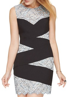 BCBGMAXAZRIA Banded Lace Dress