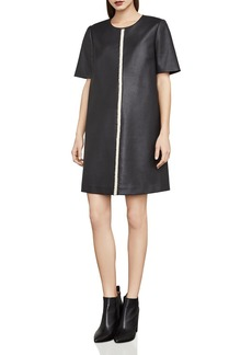 BCBG Max Azria BCBGMAXAZRIA Bardot Faux Leather Tent Dress