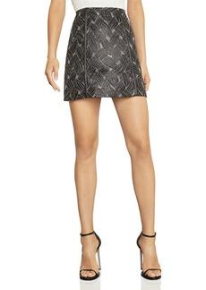 BCBG Max Azria BCBGMAXAZRIA Basket-Weave Jacquard Mini Skirt
