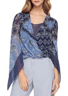 BCBG Max Azria BCBGMAXAZRIA Batik Print Wrap Blouse