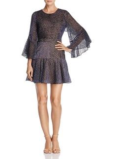 Bcbgmaxazria Baylee Velvet Burnout Dress