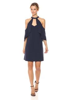 a87a2013d9436 BCBG Max Azria BCBGMax Azria Women's Duran Woven Cold Shoulder Halter Dress  S
