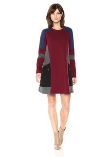 BCBG Max Azria BCBGMax Azria Women's Gigi Color Block Knit Dress with Zip Details  S