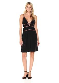 BCBGMAXAZRIA BCBGMax Azria Women's Lillie V-Neck Strap Detail Knit Dress