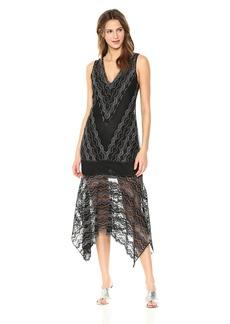 BCBG Max Azria BCBGMax Azria Women's Malory Asymmetrical Lace Dress  M