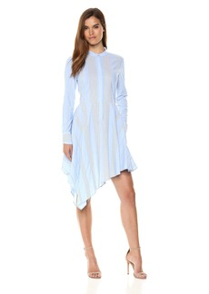 BCBGMAXAZRIA BCBGMax Azria Women's Rayanne Asymmetrical Shirt Dress  L