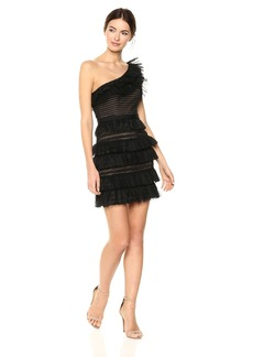 BCBG Max Azria BCBGMax Azria Women's Rena One-Shoulder Lace Dress