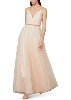 BCBG Max Azria Bcbgmaxazria Beaded-Waist Tulle Gown