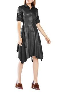 BCBGMAXAZRIA Beatryce Faux Leather Dress
