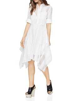 BCBGMAXAZRIA Beatryce Handkerchief-Hem Shirt Dress