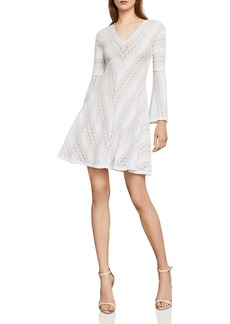 BCBG Max Azria BCBGMAXAZRIA Bell Sleeve Lace A-Line Dress