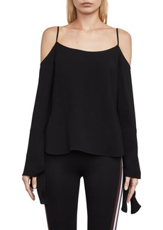 BCBG Max Azria Bell-Sleeve Scoopneck Blouse