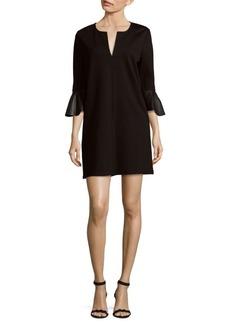 BCBGMAXAZRIA Bell-Sleeve Shift Dress