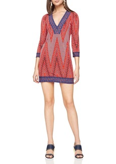 BCBGMAXAZRIA Belle Chevron-Print Dress