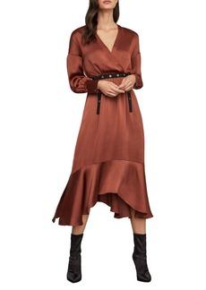 BCBG Max Azria BCBGMAXAZRIA Belted Blouson Midi Dress
