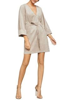 BCBG Max Azria BCBGMAXAZRIA Belted Faux Suede Mini Dress