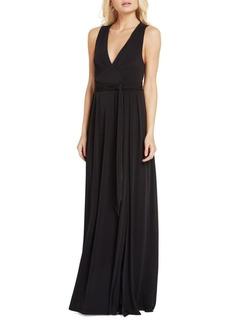 BCBGMAXAZRIA Belted Sleeveless Gown