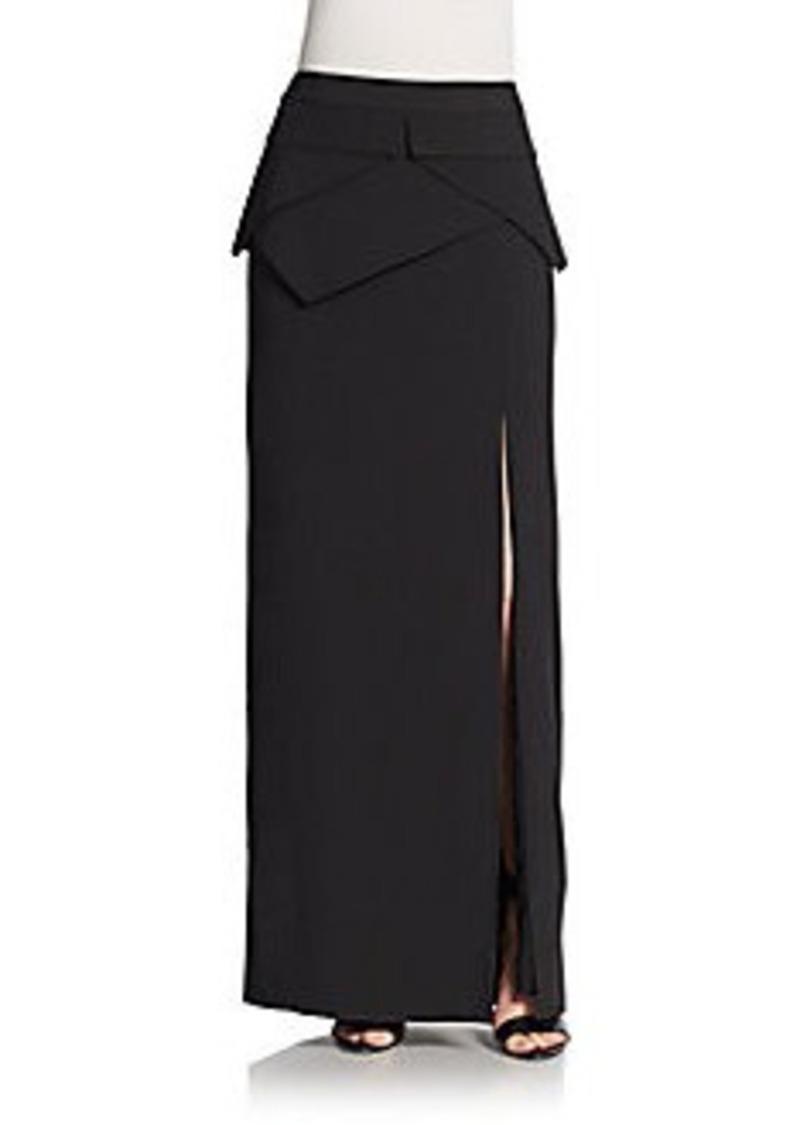 bcbg max azria bcbgmaxazria beverly slit front maxi skirt
