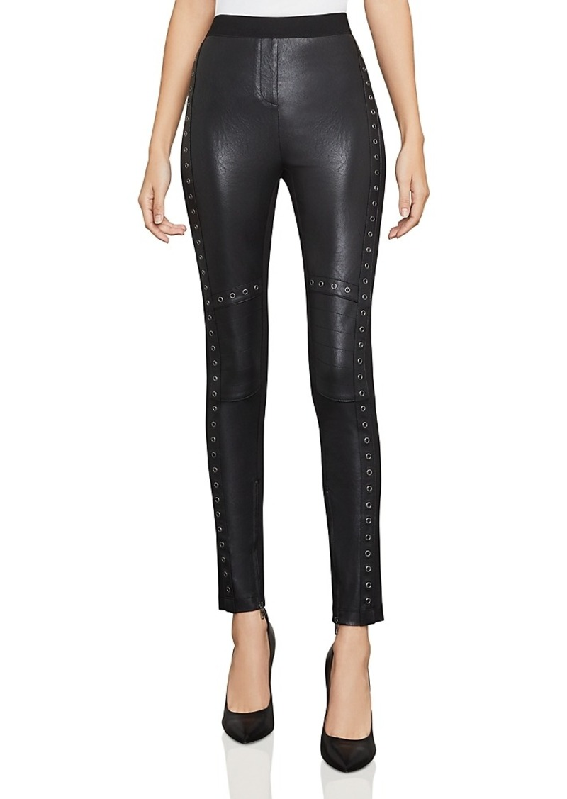 dd47f9bf0d7e8 BCBG Max Azria Bcbgmaxazria Beysa Grommeted Faux-Leather Leggings ...