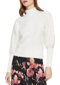 BCBG Max Azria BCBGMAXAZRIA Bishop-Sleeve Cable-Knit Sweater