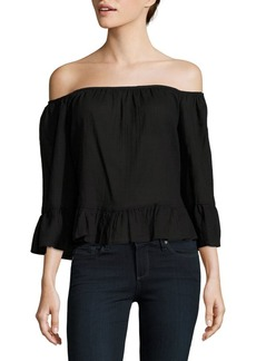 BCBG Max Azria Britanee Off-The-Shoulder Neckline Top