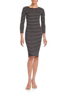 BCBGMAXAZRIA Briza Striped Knit Dress